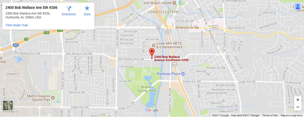 Location of Burkett Associates in Huntsville Alabama an independent insurance agency working for you
